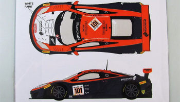 Mclaren MP4/12C GT3 #101 Spa 24h 2014 - Racing Decals 43