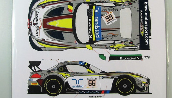BMW Z4 GT3 #66/77 24h Spa VDS Racing 2014 - Racing Decals 43