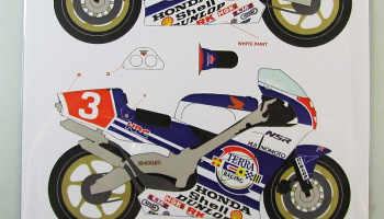 Honda NSR500 HB #3 Japan Moto GP 1989 - Racing Decals 43
