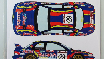 Subaru Impreza WRC #29 Rally San Marino - Racing Decals 43