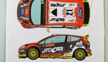 Ford Fiesta WRC #21 Rally Monte Carlo 2015 - Racing Decals 43