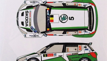 Skoda Fabia S2000 #5 Rally Ypres 2013 - Racing Decals 43
