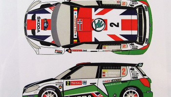 Skoda Fabia S2000 #2 Rally Ypres 2012 - Racing Decals 43