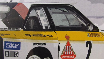 Window Frame Paint Masks 1/24 scale - Audi Quattro Sport S1 - Decalcas