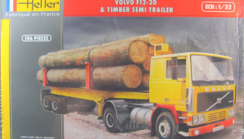 Volvo F12-20 Timber Semi Trailer - Heller