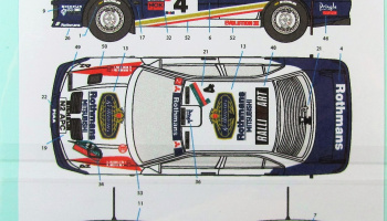 Mitsubishi Lancer EVO III Rothmans #4 New Zealand 96 - Decalpool