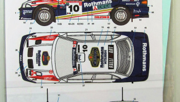 Mitsubishi Lancer EVO III Rothmans #10,11 New Zealand 95 - Decalpool