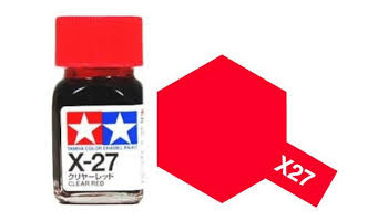 X-27 Clear Red Enamel Paint X27 - Tamiya