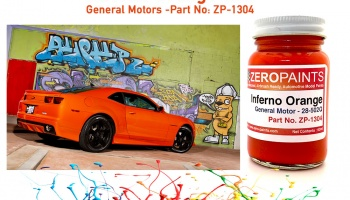 Inferno Orange (General Motors) - Zero Paints