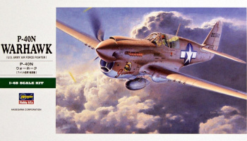 P-40N Warhawk (U.S. Army Air Force Fighter) (1:48) - Hasegawa