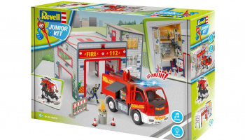 Junior Kit playset 00852 - Fire Truck & Fire Station (1:20) - Revell