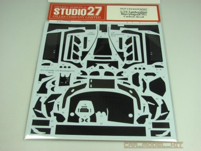 Lamborghini Murcielago R-SV Carbon decal (for AOS) - Studio27