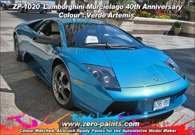 Lamborghini - Verde Artemis (40th Anniversary Colour) 2 Part - Zero Paints