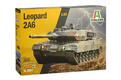 Leopard 2A6 (1:35) Italeri Model Kit Tank 6567