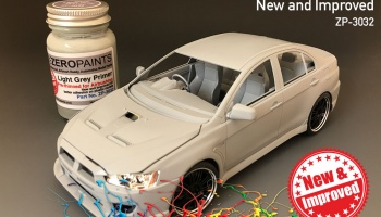 Light Grey Primer 60ml Airbrush Ready - New and Improved - Zero Paints