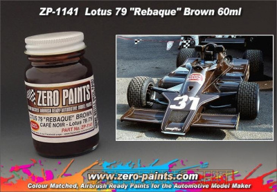 Lotus 79 Rebaque - Brown Matched Paint - Zero Paints