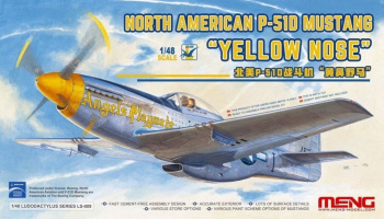 North American P-51D Mustang Yellow Nose 1/48 - Meng Model