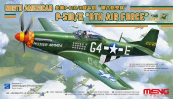 North American P-51D/K `8th Air Force` 1/35 - Meng
