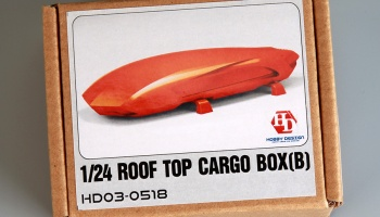 Rooftop Cargo Box B (Resin+Decals) - Hobby Design
