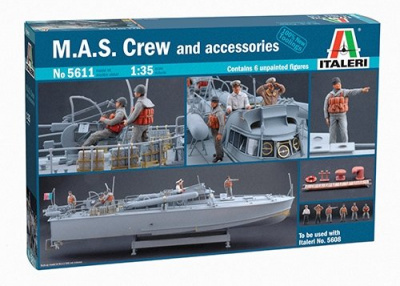 M.A.S. CREW and ACCESSORIES (1:35) - Italeri