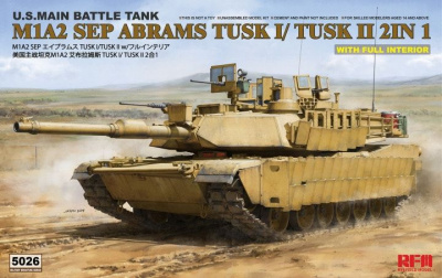 M1A2 SEP Abrams TUSK I /TUSK II with full interior 1/35 - RFM