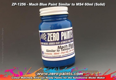 Mach Blue Paint - Similar to Tamiya MS4 - Zero Paints
