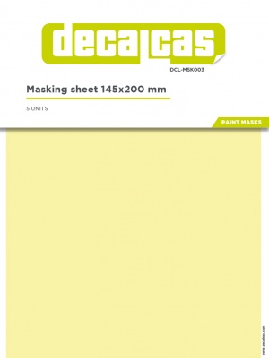 Masking Sheets 145x200mm 5pcs - Decalcas