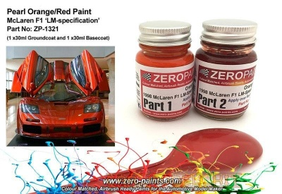 Mclaren F1 LM-Spec 1998 Orange/Red Paint Set 2x30ml - Zero Paints