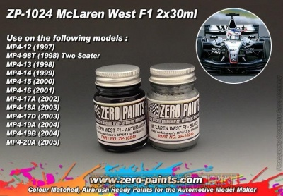 McLaren West F1 (MP4/13 to MP4/20A) - Zero Paints
