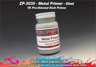 Metal Primer 60ml (Pre-thinned) - Zero Paints