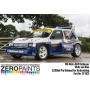MG Metro 6R4 Rothmans - White and Blue Paint Set 2x30ml - Zero Paints