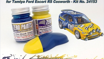 Michelin Pilot Blue & Yellow Paint Set 2x30ml For Ford Escort RS #24153 - Zero Paints