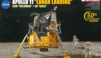 "APOLLO 11 ""LUNAR LANDING"" CSM ""COLUMBIA"" + LM ""EAGLE"" (1:72) Model Kit Apollo 11002 - Dragon"