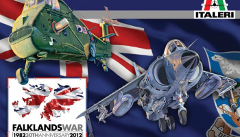 Model Kit Special Edition letadlo a vrtulník 1329 - WESSEX HAS.3 & SEA HARRIER FRS.1 Falkland (1:72)