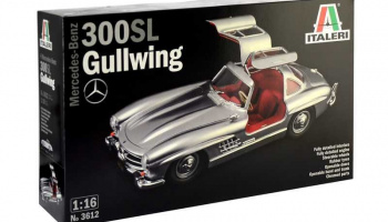 Mercedes-Benz 300 SL Gullwing (1:16) Model Kit 3612 - Italeri