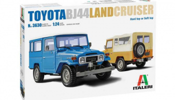 Toyota Land Cruiser BJ-44 Soft/Hard Top (1:24) Model Kit auto 3630 - Italeri
