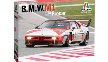 BMW M 1 Pro Car (1:24) Model Kit auto 3643 - Italeri