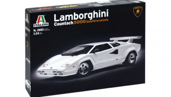 LAMBORGHINI COUNTACH 5000 (1:24) Model Kit 3683 - Italeri