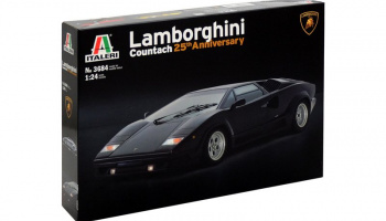 LAMBORGHINI COUNTACH 25th Anniversary (1:24) Model Kit 3684 - Italeri