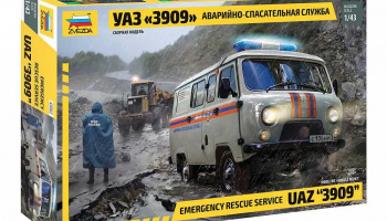 "Emergency Service UAZ ""3909"" (1:43) Model Kit 43002 – Zvezda"