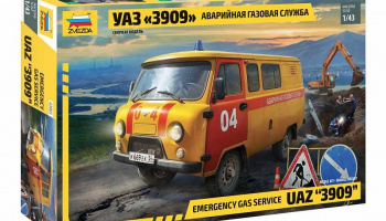 "Emergency gas service UAZ ""3909"" (1:43) Model Kit 43003 – Zvezda"
