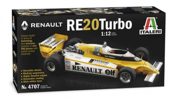 RENAULT RE 20 Turbo (1:12) Model Kit 4707 - Italeri