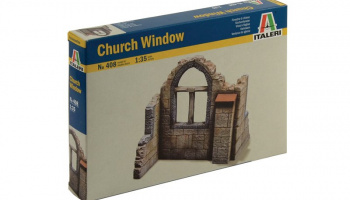 Model Kit budova 0408 - CHURCH WINDOW (1:35)