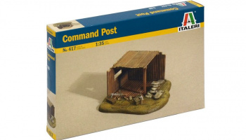 Model Kit budova 0417 - COMMAND POST (1:35)