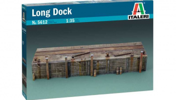 LONG DOCK (1:35) Model Kit budova 5612 - Italeri