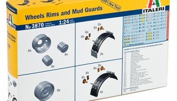 WHEELS RIMS and MUD GUARDS - Italeri
