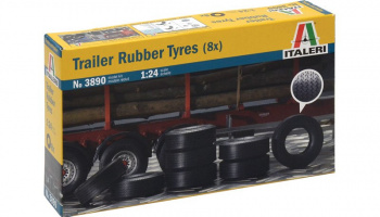 TRAILER RUBBER TYRES (8x) (1:24) Model Kit 3890 - Italeri
