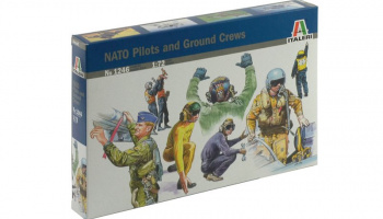 Model Kit figurky 1246 - NATO PILOTS AND GROUND CREW (1:72)