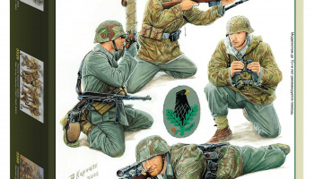Model Kit figurky 3595 - German Sniper Team (1:35) – Zvezda