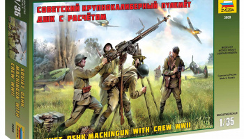 Model Kit figurky 3609 - Soviet DSHK with Crew WWII (1:35)